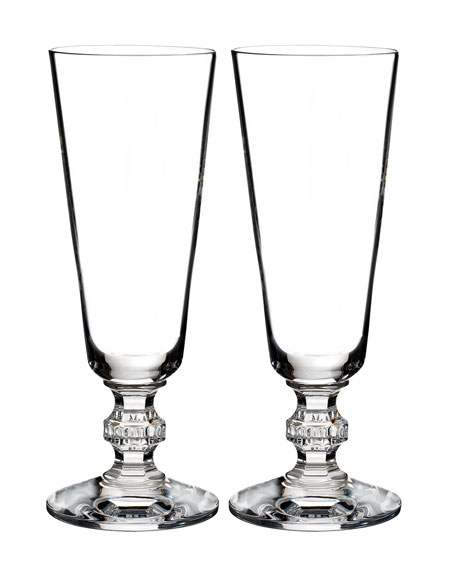 Waterford Crystal Ashton Lane Flutes, Set of 2