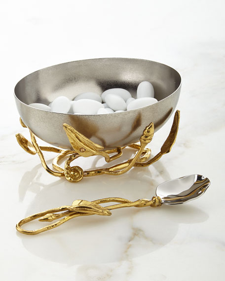 Michael Aram Enchanted Garden Nut Bowl with Spoon
