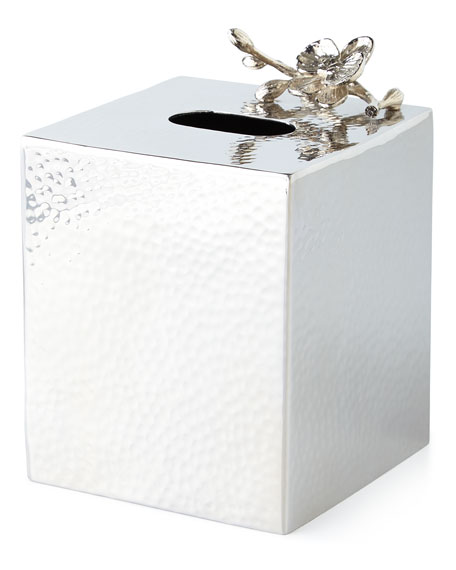 White Orchid Tissue Box Cover