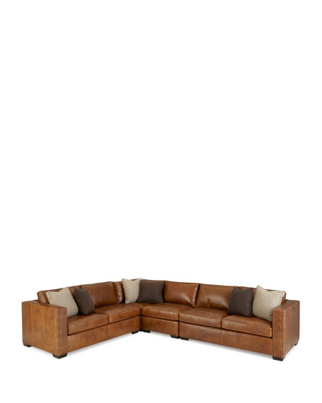 Bernhardt Renaldo 4-Piece Leather Sectional