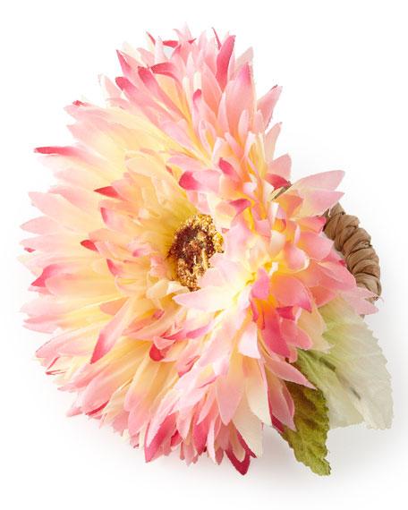 Deborah Rhodes Hydrangea Leaf Placemat, Newport Border Napkin,