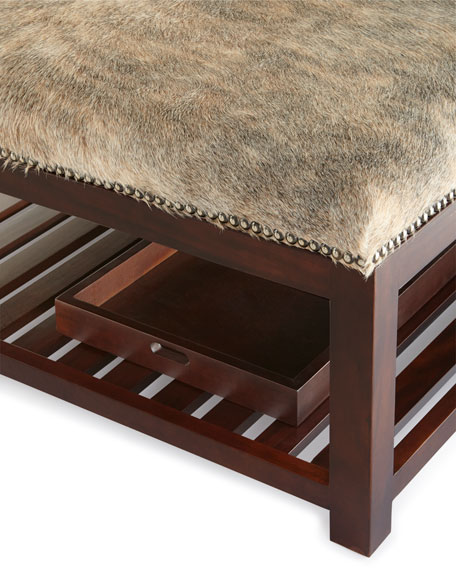 Brody Hairhide Ottoman
