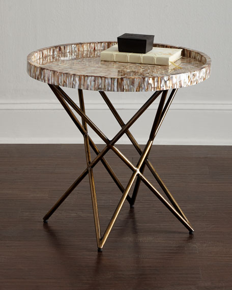 Marina Shell Side Table