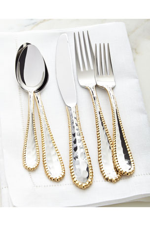 Michael Aram 5-Piece Molten Golden Flatware Place Setting