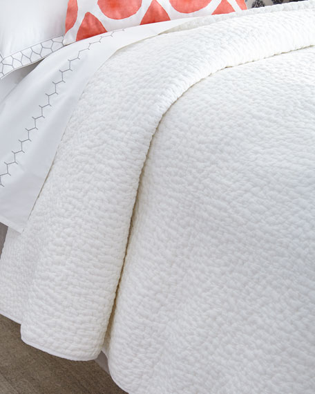 John Robshaw Twin Hand-Stitched Coverlet