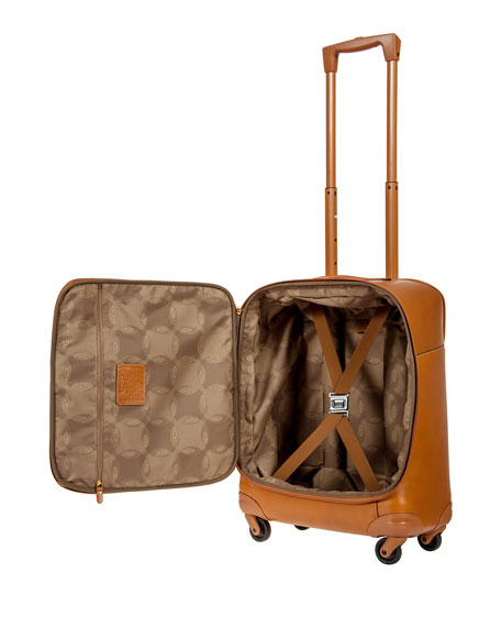 "Pelle Cognac 21"" Carry-On Spinner Luggage"