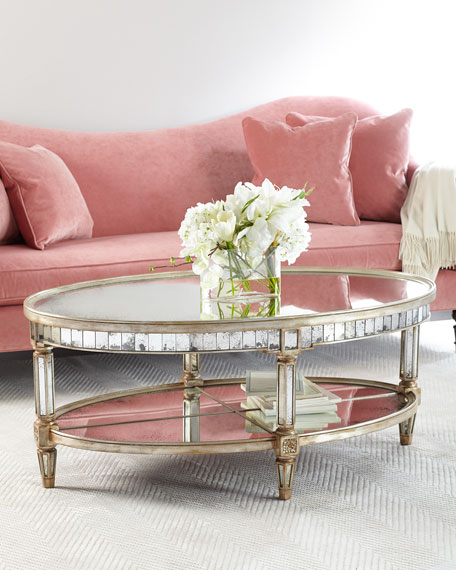John-Richard Collection Keene Mirrored Coffee Table | Neiman Marcus