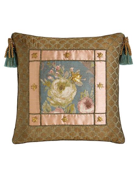 "Florabundance Pillow, 20""Sq."
