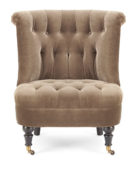Neala Tufted-Velvet Chair