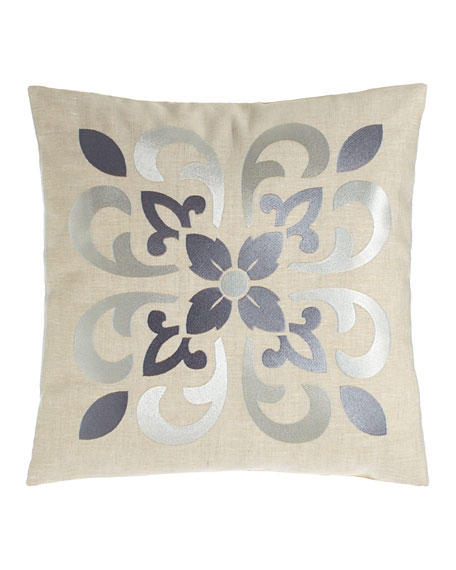 "Moroccan Tile Pillow, 16""Sq."