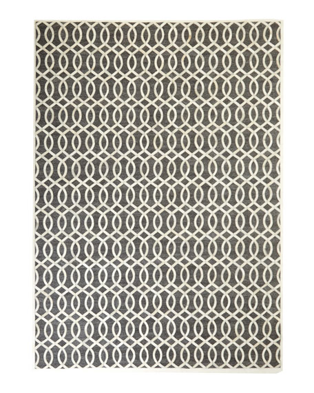"Windrose Hairhide Rug, 11'6"" x 14'6"""