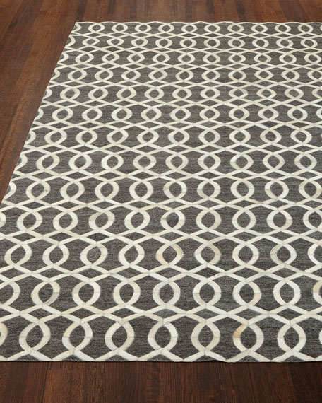 Windrose Hairhide Rug, 8' x 11'