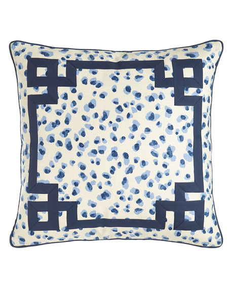 Jane Wilner Designs Ellie Leopard-Spot Pillow, 20