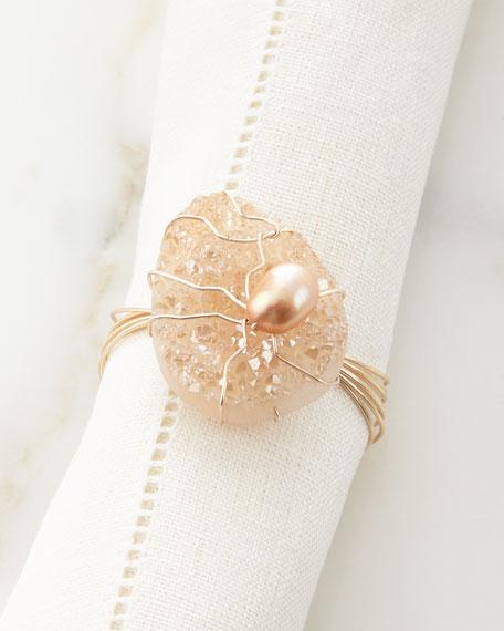 Joseph WilliamsBlush Drusy Napkin Ring
