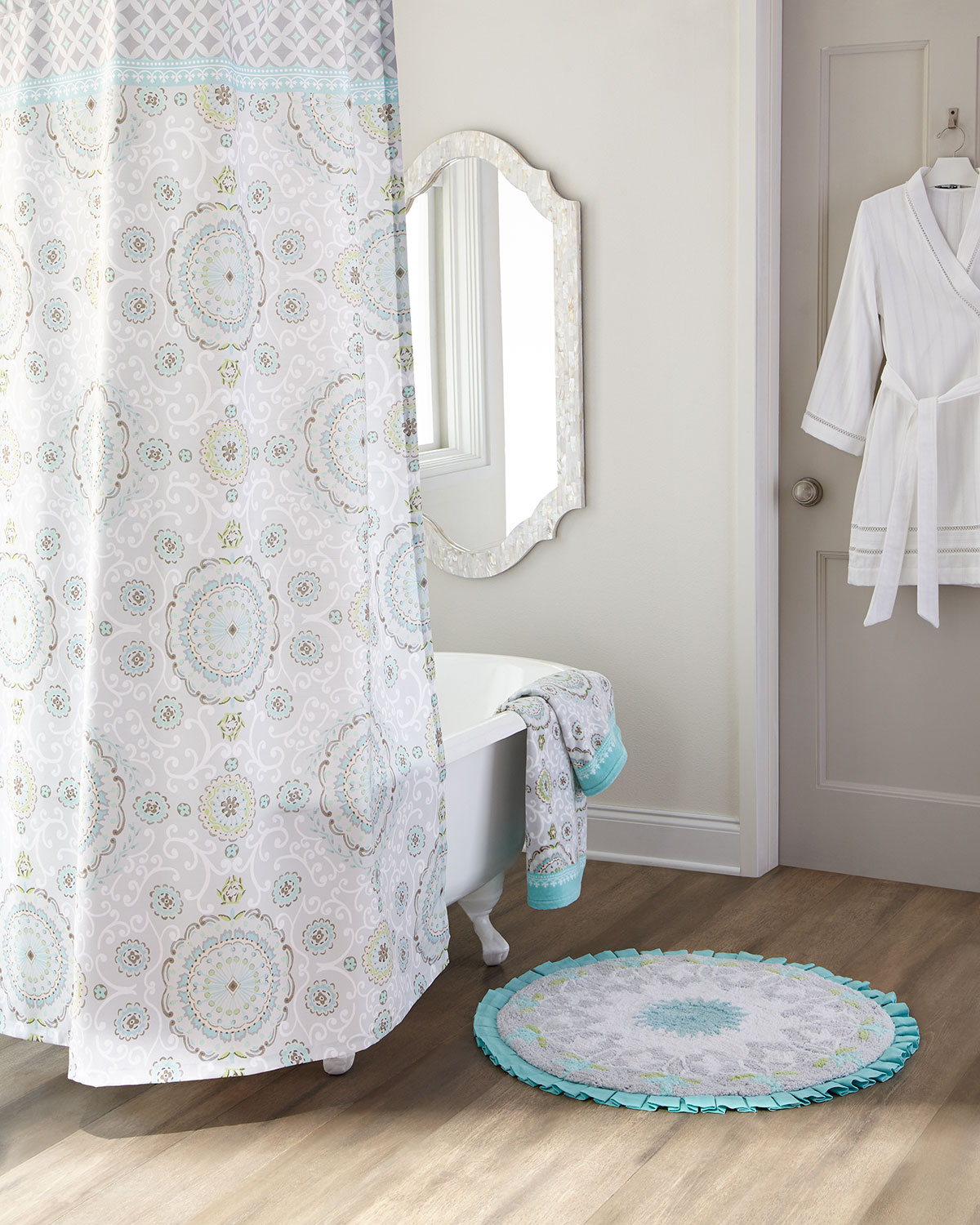 Quick Look Dena Home Camden Shower Curtain Available In Gray