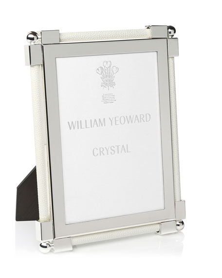"Classic Shagreen White 5"" x 7"" Picture Frame"