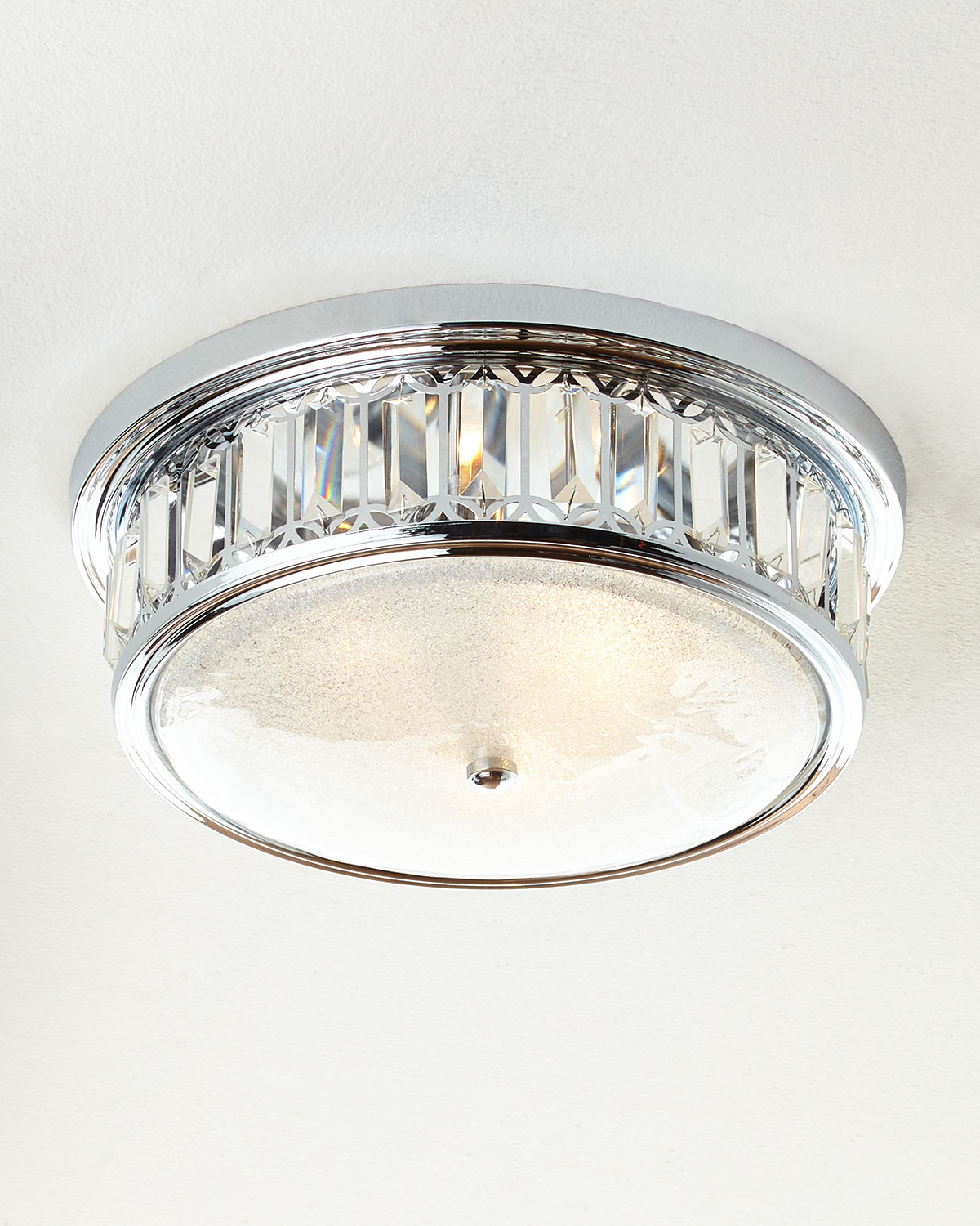 Silvery 3-Light Flush-Mount Ceiling Fixture | Neiman Marcus