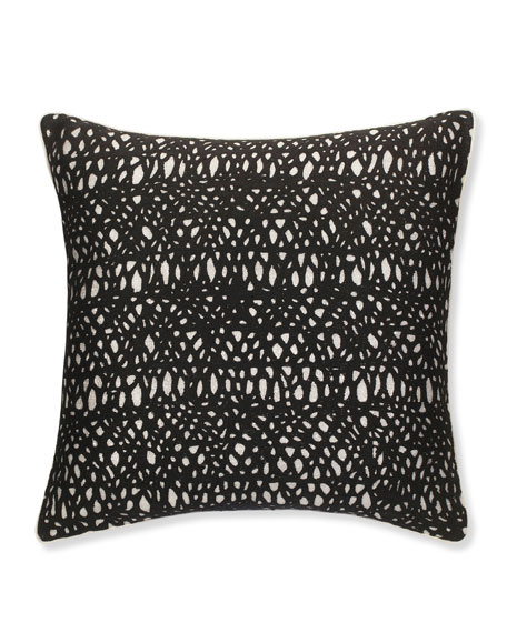 SFERRA Metallic Pillow with Black Netting, 20