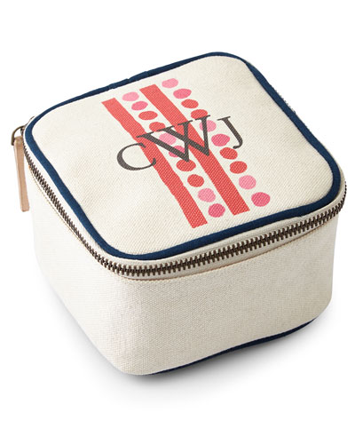 Dots & Stripes Red Travel Jewelry Box