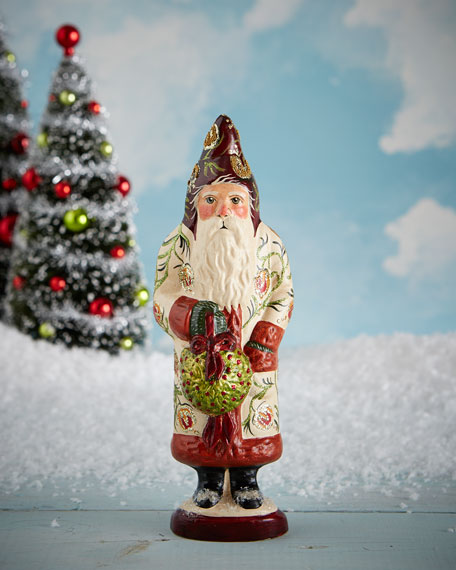 Vaillancourt Folk Art Kissing Ball Santa Figure