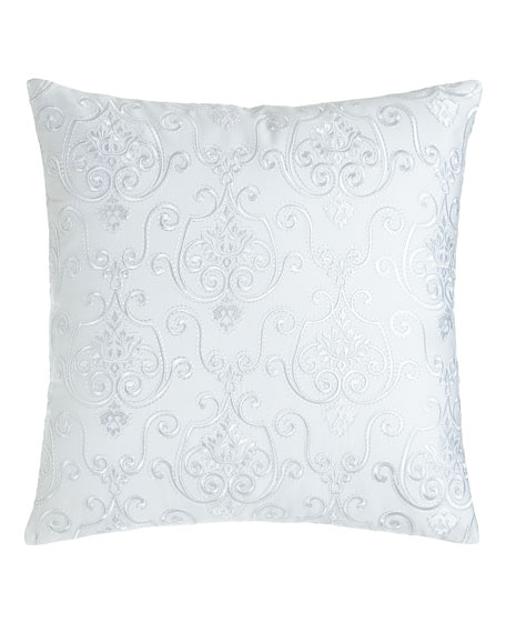 "Lara Embroidered Pillow, 16""Sq."