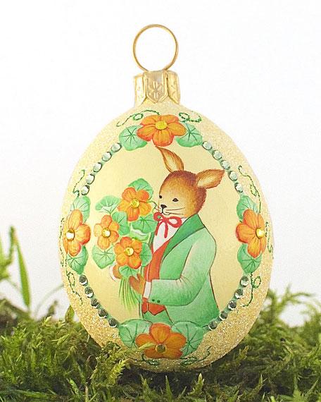 Patricia Breen The Bouquet: Nasturtium Medium Egg Ornament