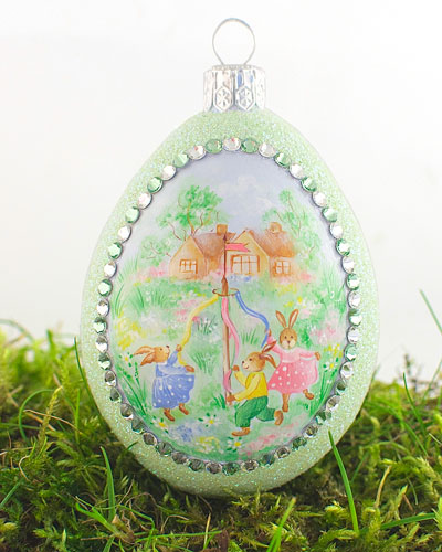 The Maypole Large Pastoral Egg Ornament