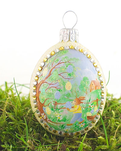 In the Glade Medium Pastoral Egg Ornament