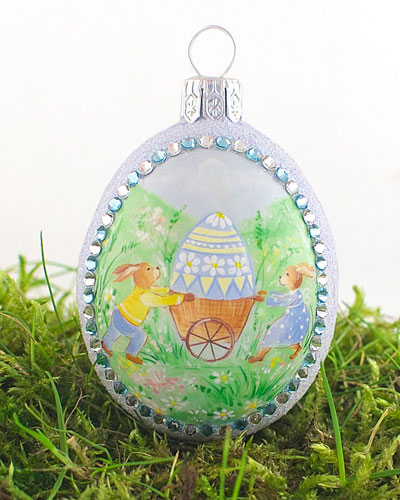 Spring Delivery Medium Pastoral Egg Ornament