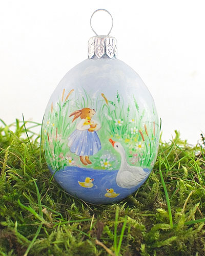 Gosling Love Medium Pastoral Egg Ornament