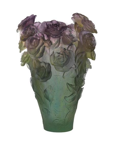 Daum Rose Passion Magnum Vase