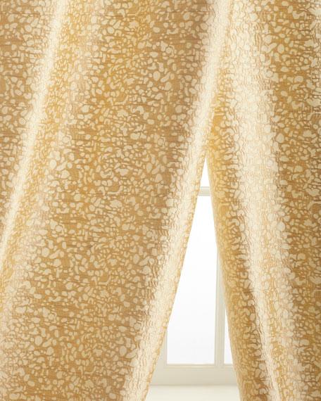 "Each 50""W x 96""L Shimmer Stone Curtain"