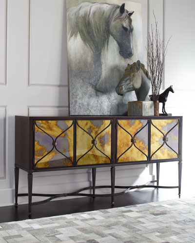 Lorenzo Mirrored-Door Console