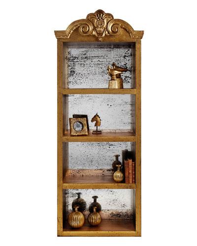 Bayden Gold-Leaf Bookcase