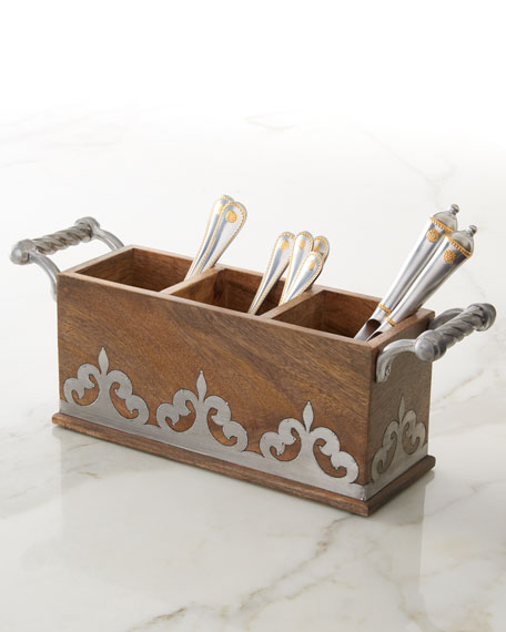 G G Collection Heritage Flatware Caddy