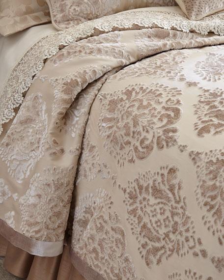 Queen Aristocrat Velvet Damask Coverlet