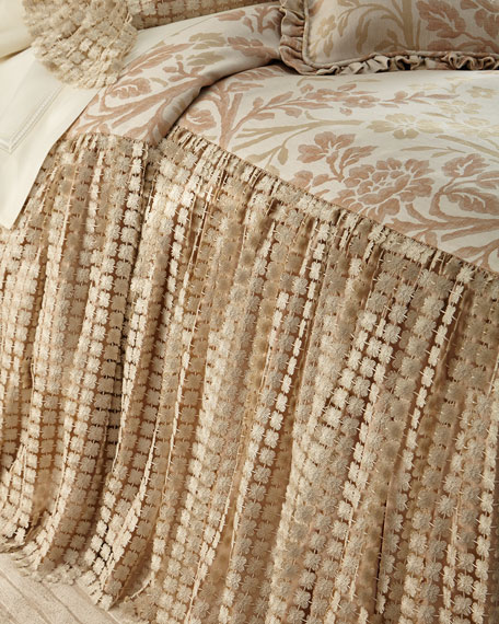 King Prescilla Skirted Coverlet