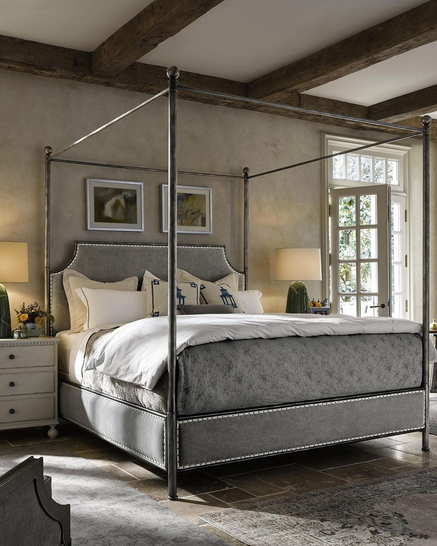& Taverna California King Canopy Bed | Neiman Marcus