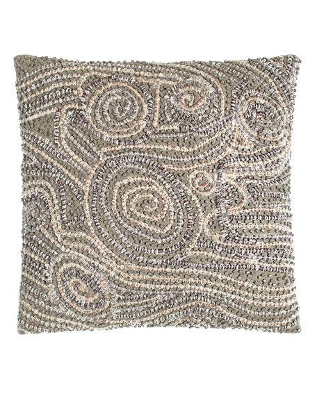 "Fuse Beaded Pillow, 12""Sq."