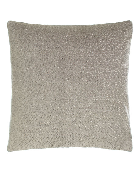 "Fuse Embroidered Velvet Pillow, 18""Sq."