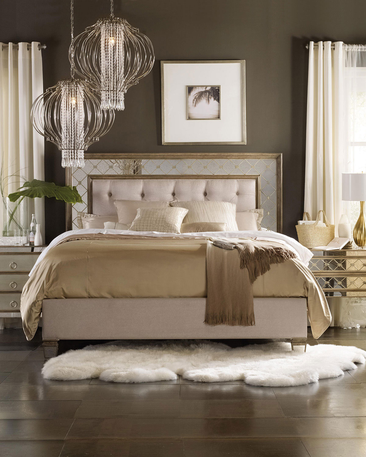 Ilyse mirrored california king bed