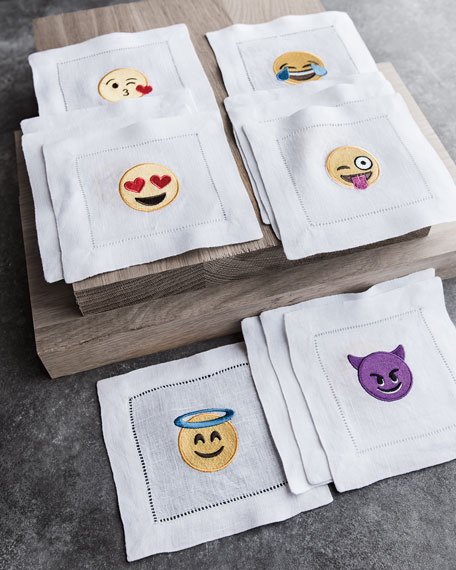 Emoji Flirty Cocktail Napkins, 4-Piece Set