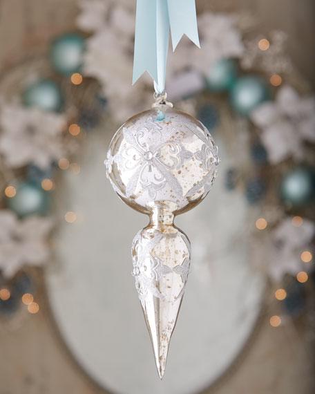 Mercury glass finial christmas ornament