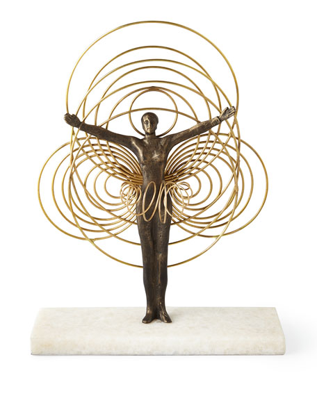 Global Views Bauhaus Wire Woman Sculpture
