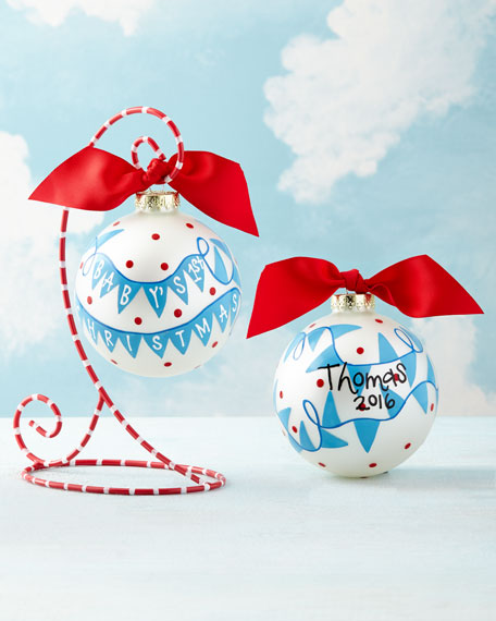 Coton Colors Baby's 1st Christmas Banner Ornament, Boy