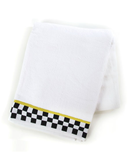 MacKenzie-Childs Black & White Check Bath Sheet