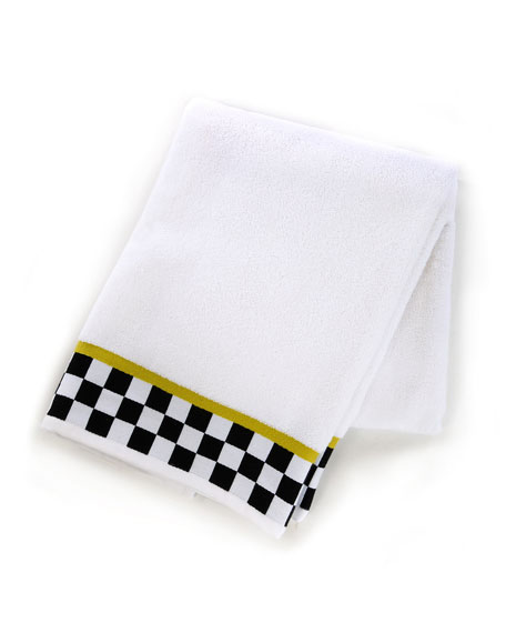 MacKenzie-Childs Black & White Check Bath Towel