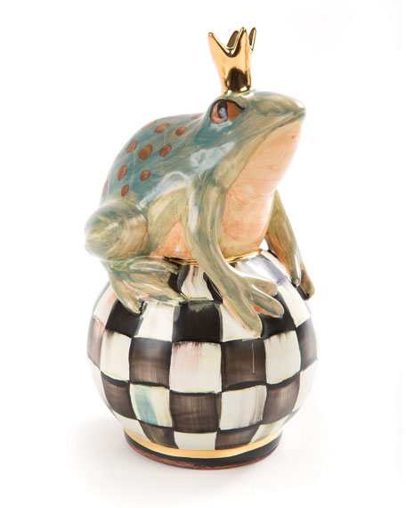 Frog on Courtly Check Ball