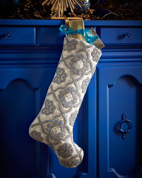 Kim SeybertFloral Gate Christmas Stocking