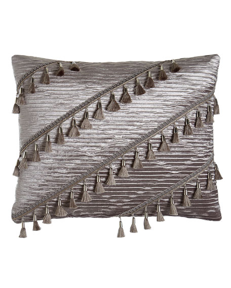 Geordi Pleated Velvet Pillow, 16